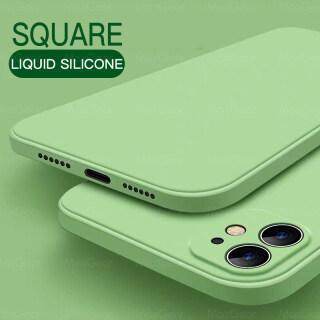 Ốp Lưng Silicon Lỏng Chính Hãng Cho iPhone 11, Ốp Mềm Mini Hình Vuông Cho iPhone 6, 6S, 7, 8 Plus, 7Plus, 8 P, XR, X, XS MAX, SE, 2, 12 max 7 8 6 6S Cộng Với SE 2 2020 12 Màu Sắc Điện Thoại Bìa thumbnail