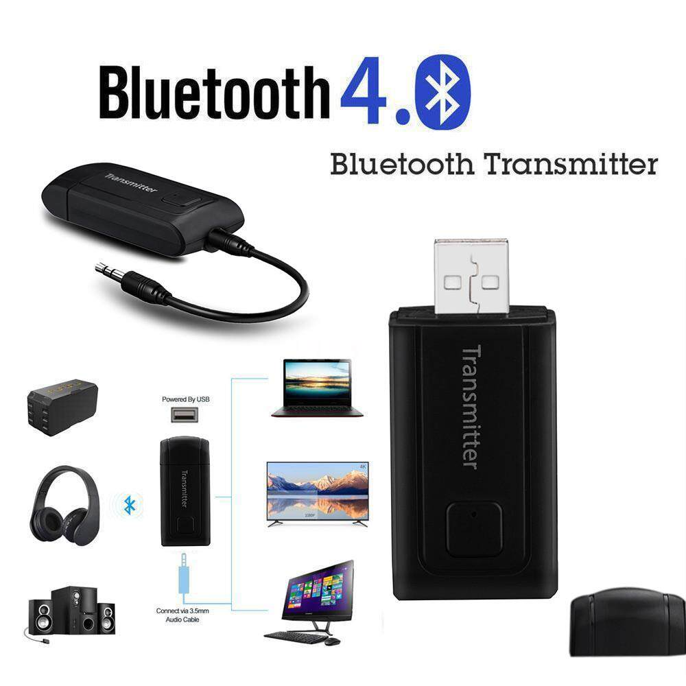 CHAMER65 Wireless Bluetooth Transmitter Stereo Audio Music Adapter for TV Phone PC Y1X2