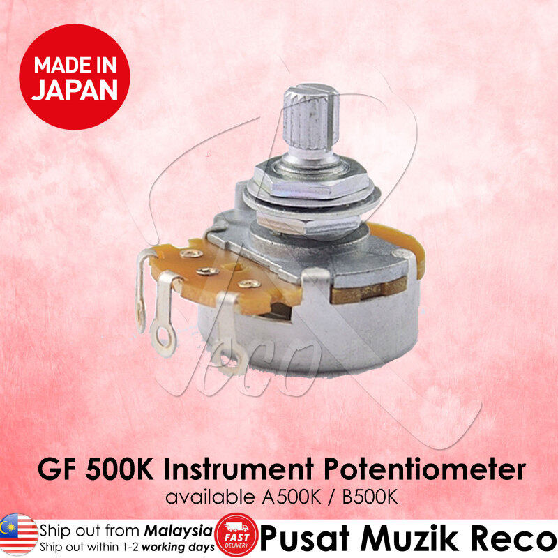 Gotoh GF A500K B500K Audio Linear Guitar Tone Volume 500K Pot Pots Potentiometer - Made in Japan Malaysia