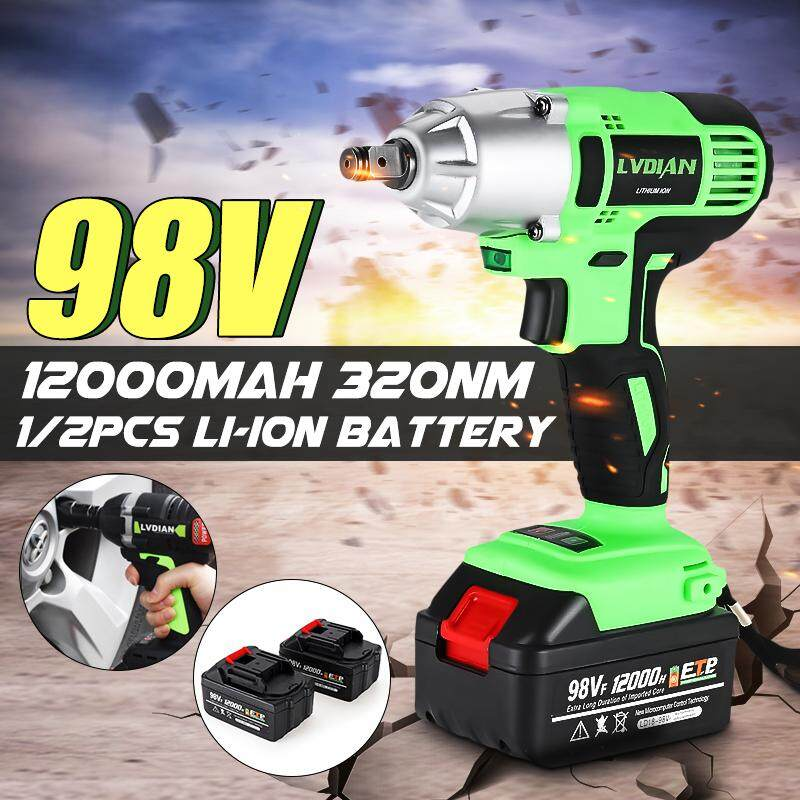 【Free Shipping + Flash Deal】Cordless Impact Wrench Machine Set Electric Drill Hammer Tool Battery W/ LED Light