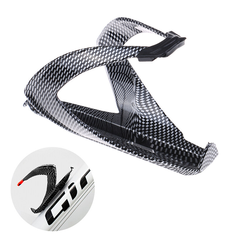 1 Pc Carbon Fiber Road Bicycle Bike Cycling Water Bottle Drinks Holder Rack Cage