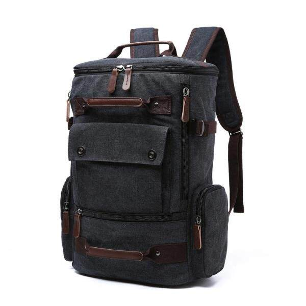 Canvas Men Vintage Backpack Bag Male Backpack 15.6 17 Inch Laptop Bags Outdoor Travel Back Pack Teenage Luggage Backpacking