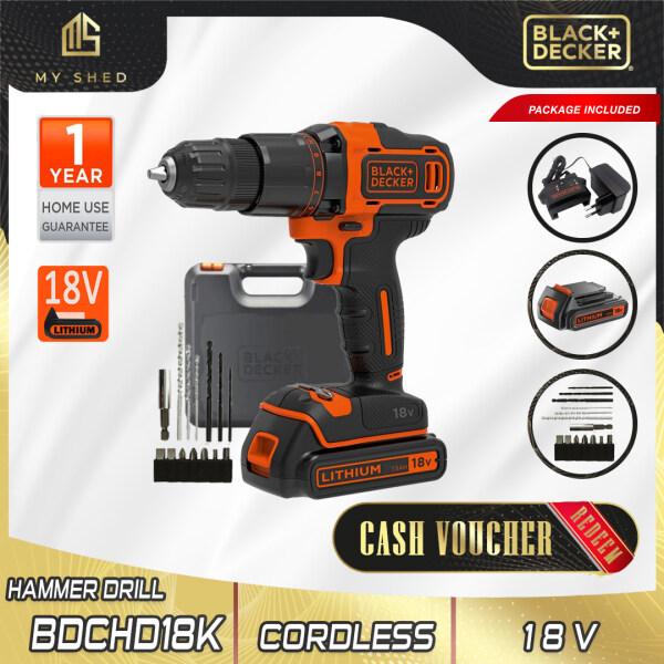 BLACK & DECKER BDCHD18K-B1 Cordless Hammer Drill With 1 Lithium Battery 18V (BDCHD18K)