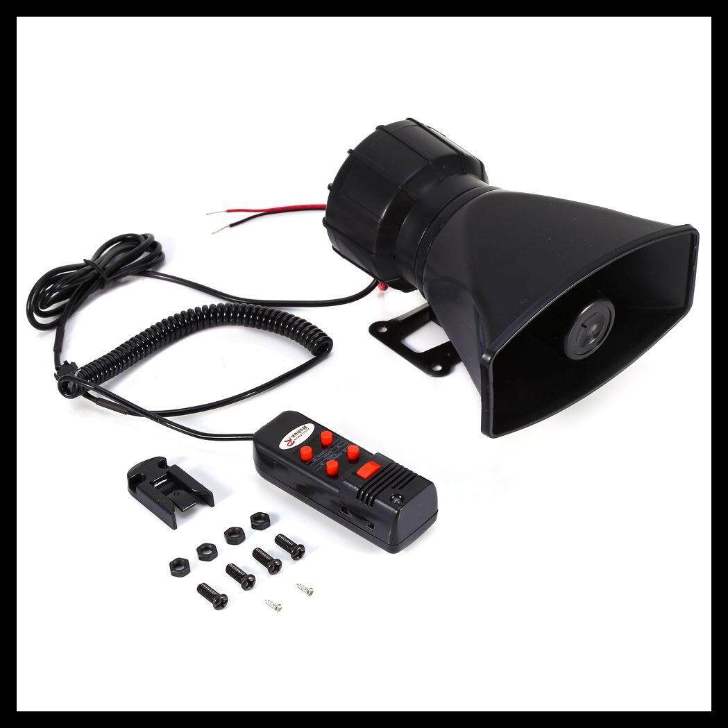 12V 100W 6 Sound Car Warning Alarm Police Fire Siren Horn Loud Speaker with MIC