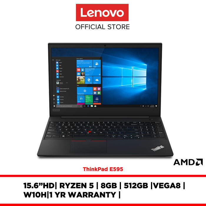 Lenovo Notebook Laptop ThinkPad E595 20NFS06D00 15.6 HD/RYZEN 5/8GB/512GB/VEGA 8/W10H/1YR WARRANTY Malaysia