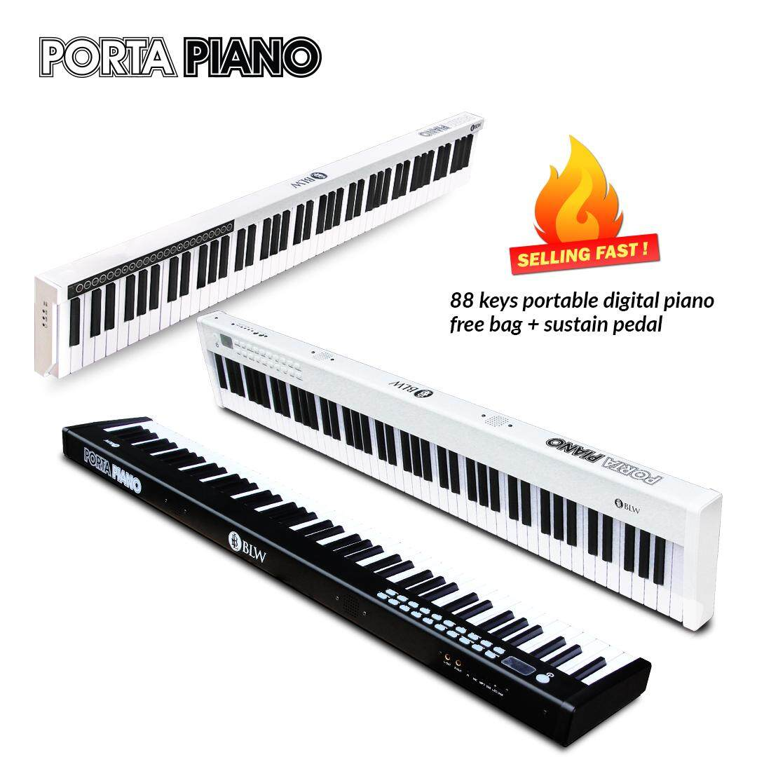 BLW PORTAPIANO 88 Keys Portable Digital Electric Electronic Piano Keyboard  for Music Practice & Performance