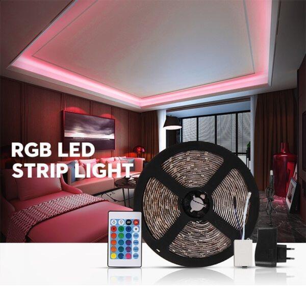 Bảng giá Dải Đèn LED RGB, Dải Đèn LED 12V Dải Đèn Chống Nước IP65 5M Dải Đèn Điều Khiển Từ Xa Đèn LED Trang Trí Đèn Tủ Cho Phòng Bếp