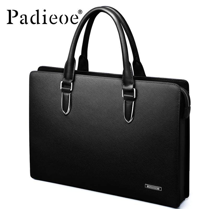a619354c Padieoe High Quality 2019 New Design Portfolio Business Bag Laptop Bag Men  Bag Men Office Bag Women Genuine Cow Leather Messenger Bag With Large ...