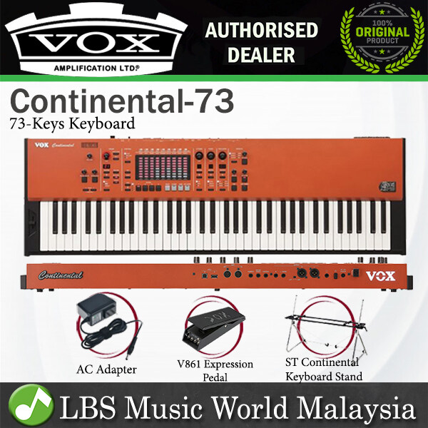 Vox Continental 73 Key Perfomance Keyboard Organ with Virtual Touch Drawbar (Continental73) Malaysia