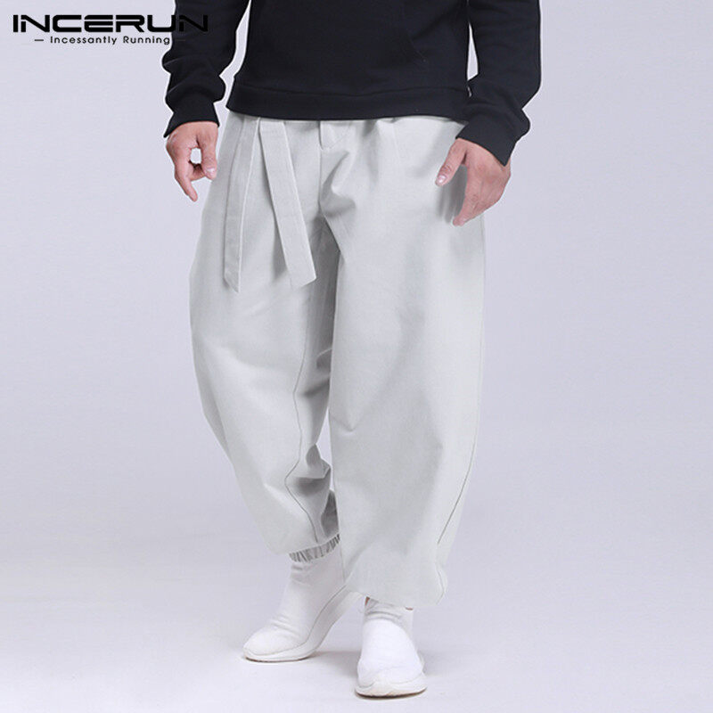 YUNY Mens Hi-Waist Baggy Straight Oversize Jogger Pant Trousers 9 5XL