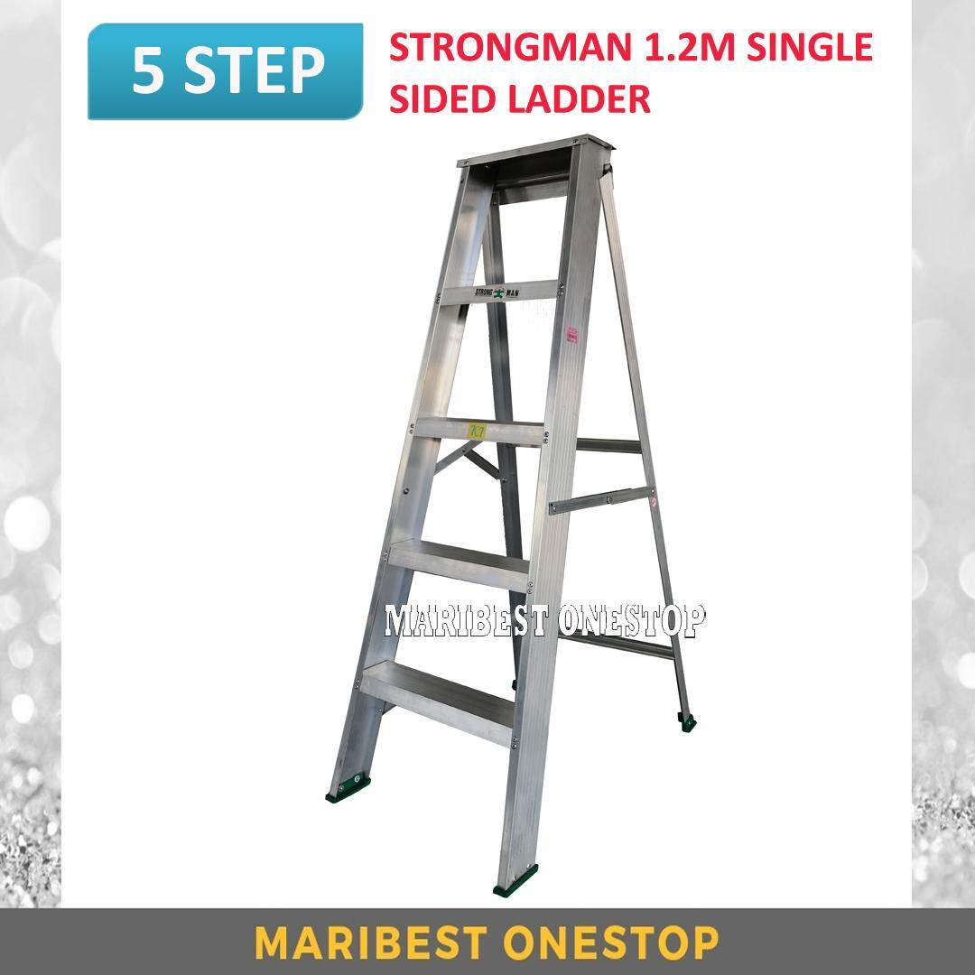 "STRONGMAN SS5 47"" Aluminium Single Sided 5 Steps Ladder"
