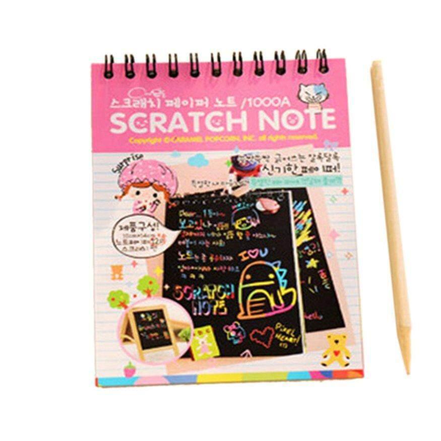 Mua Top Deals Y031 Creative Color Diy Coil Scratch Picture Childrens Graffiti Sketch Book Scratch Painting Picture Orange