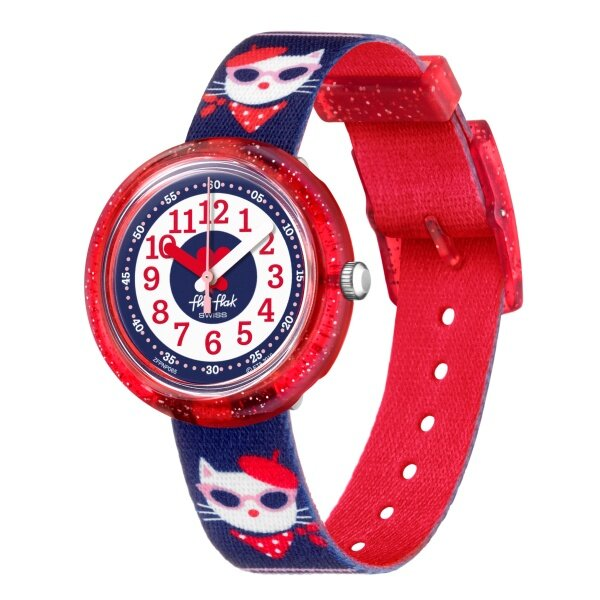 Flik Flak CATITUDE Girls Blue Watch Case size 31.85mm FPNP065 Malaysia