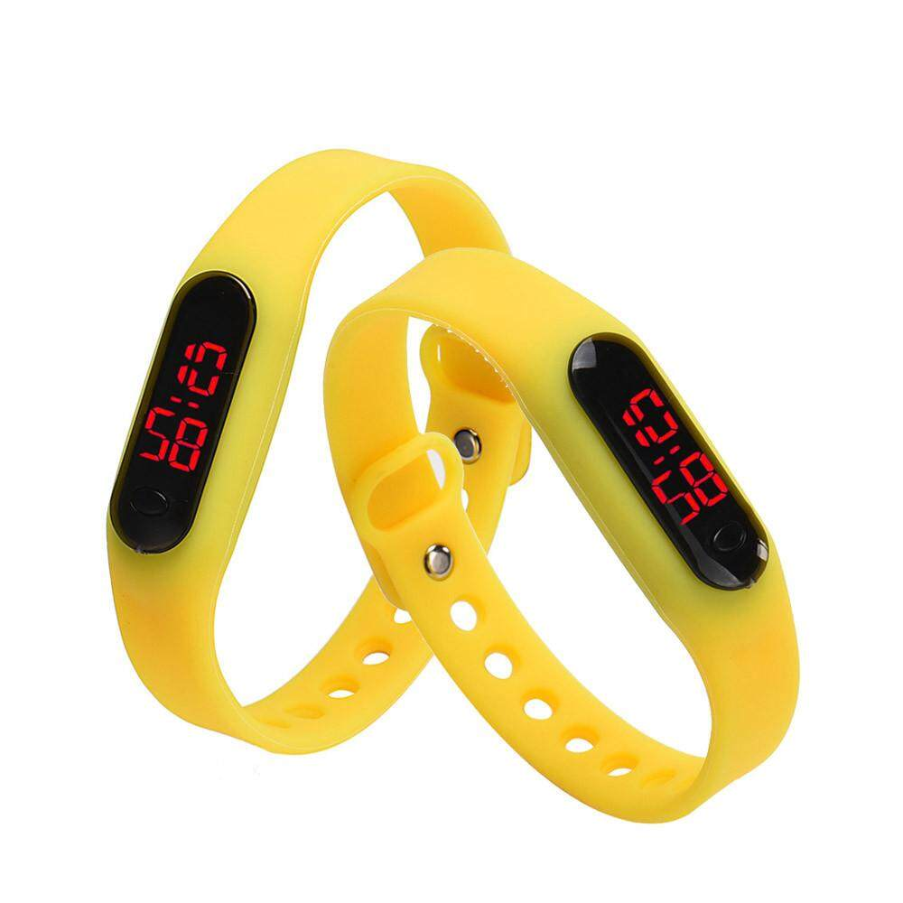 BPFAIR_Rubber LED Womens Mens Date Sports Bracelet Digital Wrist Watch White Free shipping Malaysia