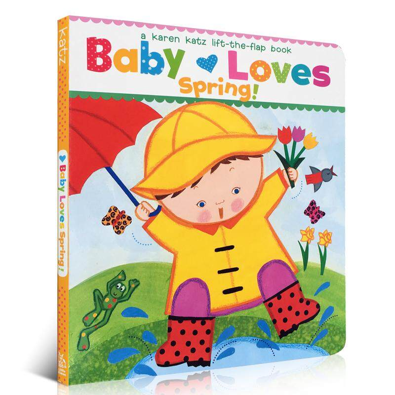 Baby Loves Spring By Karen Katz Early Learning English Picture Cardboard Books Baby Educational Gifts for Children Kids