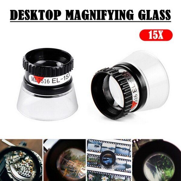 Hot Portable Mini Jeweler Watch Magnifier Tool 15X Monocular Magnifying Glass Loupe Lens Eye Magnifier Len Repair Kit Tool