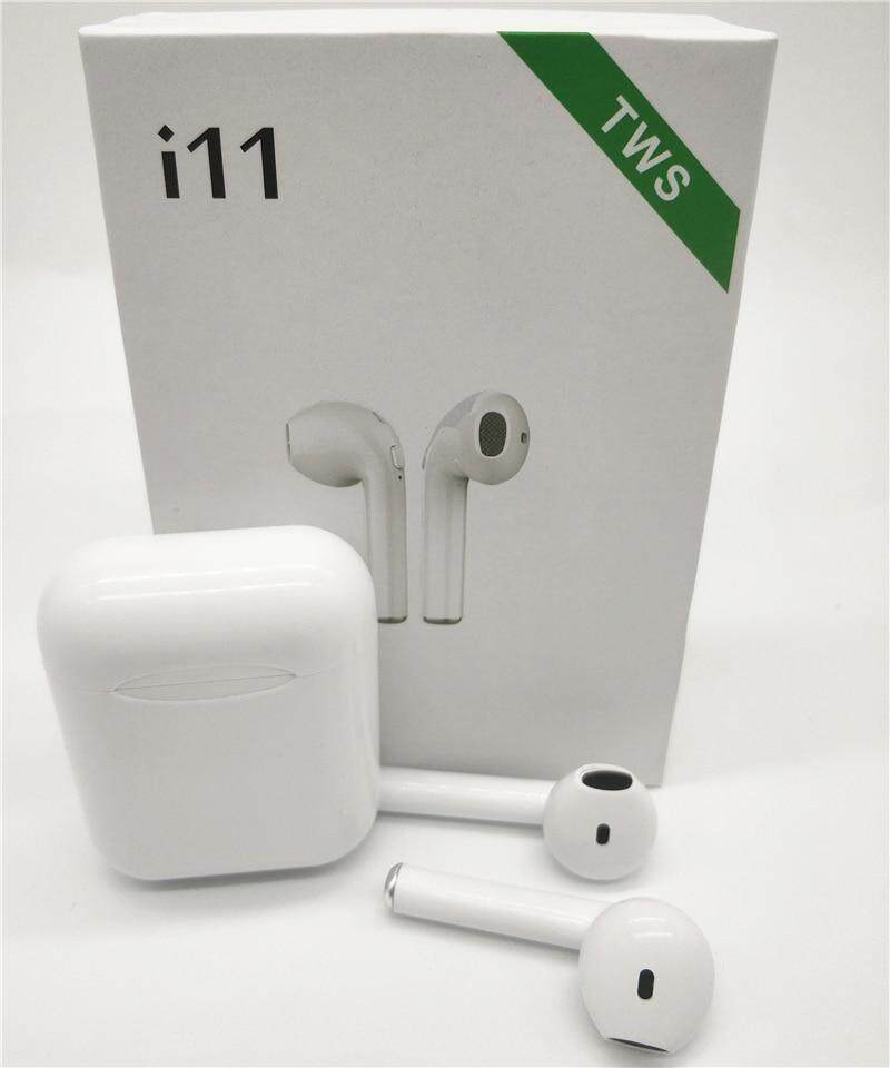 c2ca2be193c i11 TWS Bluetooth 5.0 Wireless Earphones Earpieces mini Earbuds i7s With  Mic For iPhone X 7