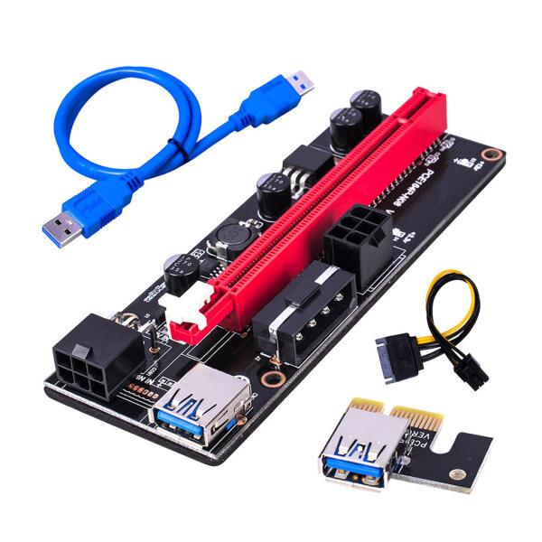 Bảng giá PCI-E Riser Hội Đồng Quản Trị, Bộ Mở Rộng GPU 1X Đến 16X Card Bộ Chuyển Đổi GPU PCI-E USB 3.0 Với 6pin Giao Diện Phong Vũ