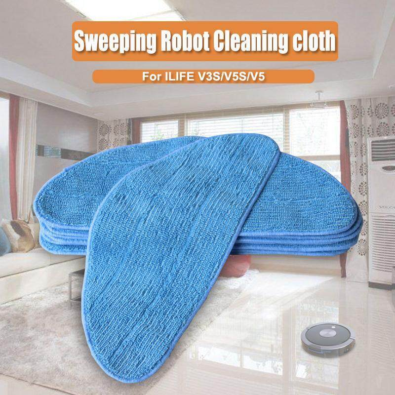 【Free Shipping + Flash Deal 】Cleaning Cloth Sweep Pads For ILIFE V3S/V5S/V5 Sweeping Robot Cleaner Parts Singapore
