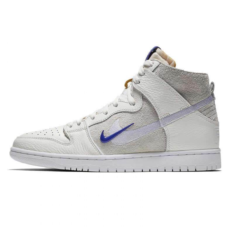 cheap for discount 99dce 1db08 NIKE SB dunk high double hook high men's shoes beige white joint women's  shoes skate shoes