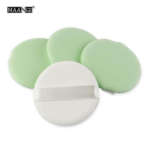 Set 4 mút trang điểm MAANGE hình tròn dùng tán kem nền - INTL nhập khẩu