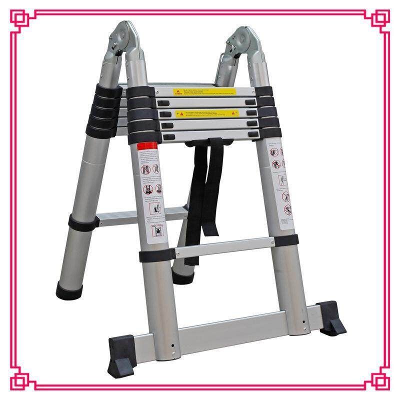 1.6m+1.6m Aluminum alloy extension ladder Portable folding aluminum ladder Telecom power engineering ladder