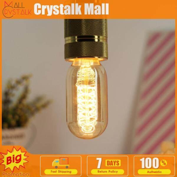 4 Bóng Đèn Cổ 220V 110V 40W T45 Đa Năng, Đèn Edison Sợi Đốt Xoắn Ốc Màu Vàng Kim Trang Trí Nội Thất