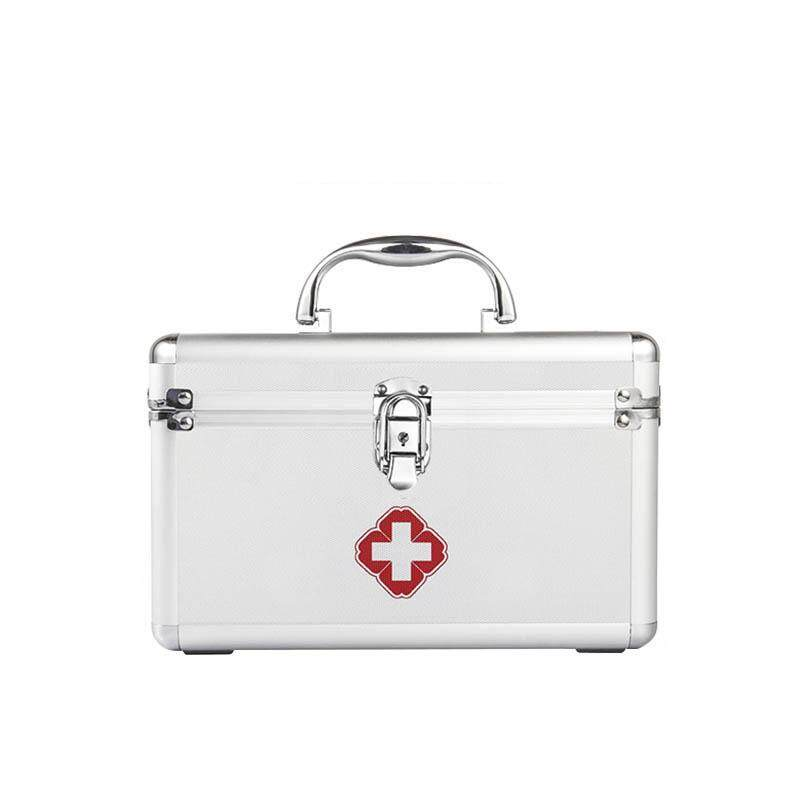 Aluminum alloy Medicine large storage box with cover dustproof household medical supplies storage bin Medicine First Aid Storage big case