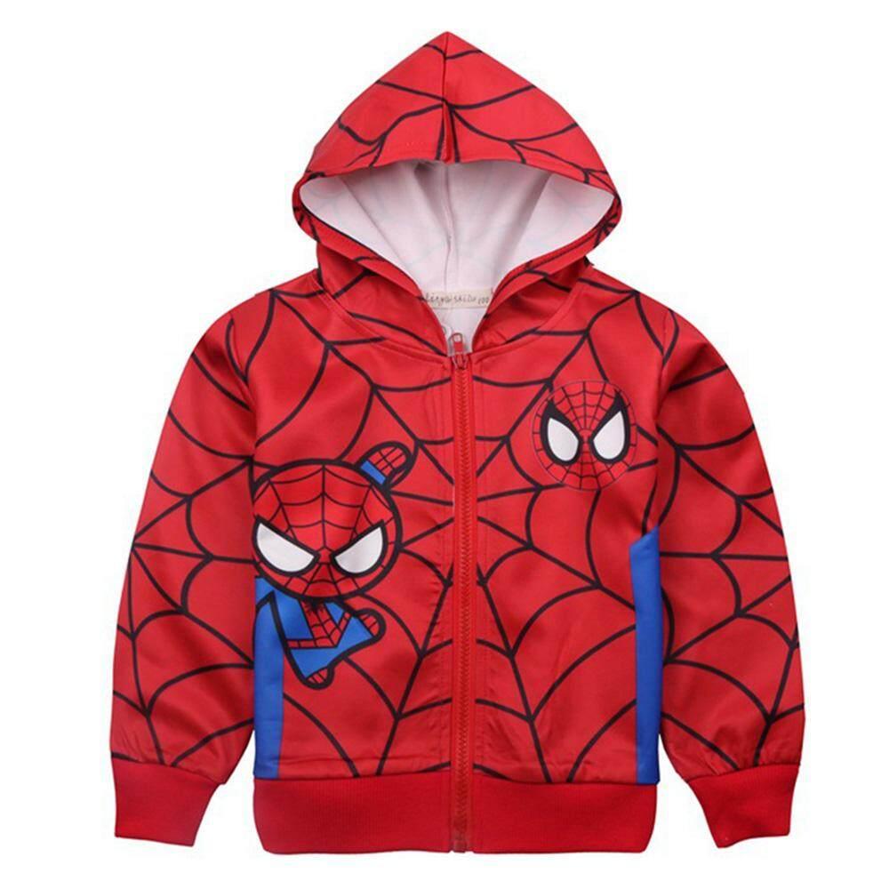 Kids Toddler Baby Boy Cartoon Spider-Men Long Sleeve Jacket With Zipper Casual Children Jackets Coats.