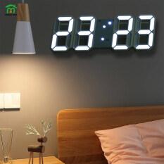 Đồng Hồ LED Âm Thanh Nổi Memroy Kiểu Hàn Quốc, Đồng Hồ Treo Tường Báo Thức Kỹ Thuật Số 3D Trang Trí Nhà Cửa
