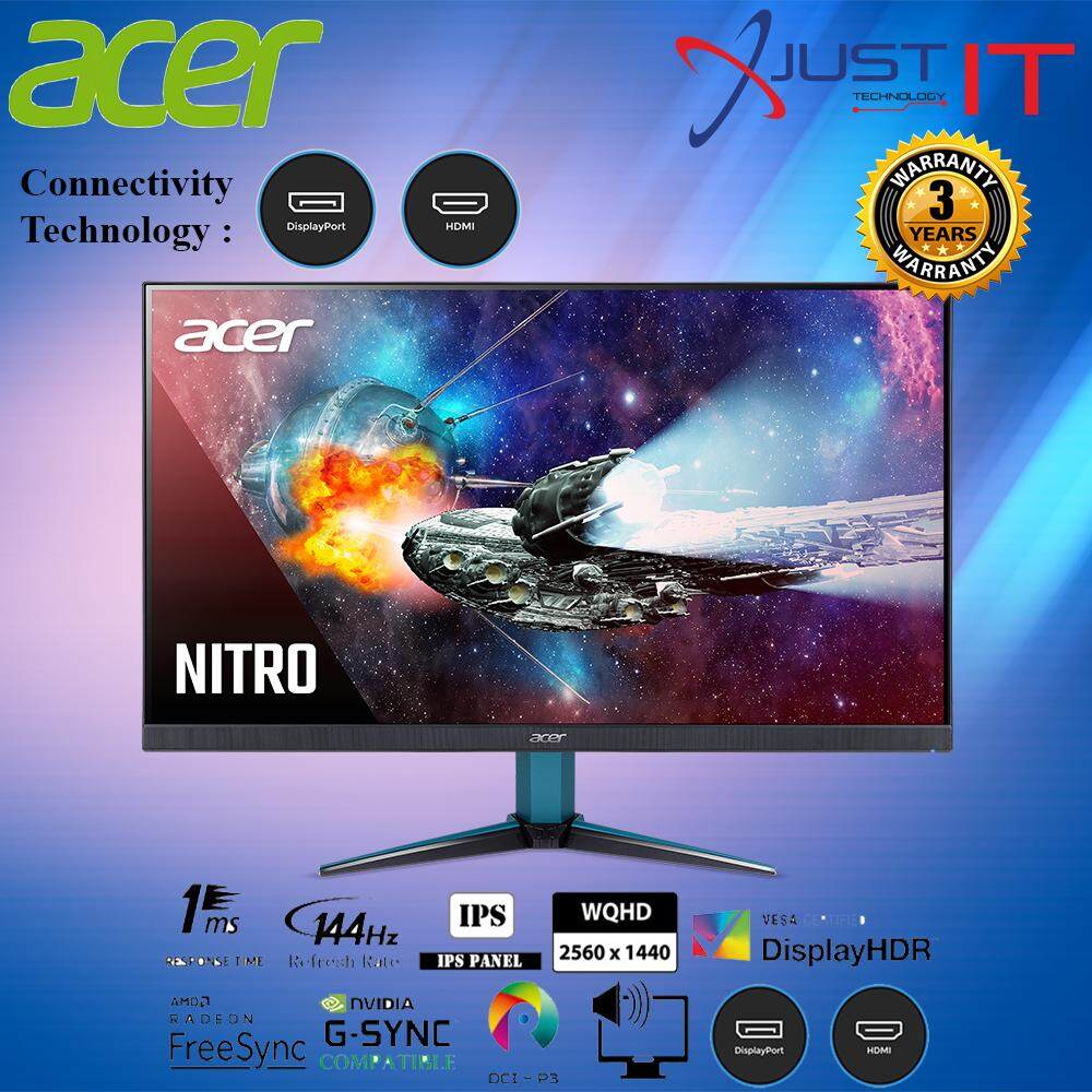 ACER NITRO VG271UP 27  IPS 1MS 144HZ WQHD AMD FREESYNC GAMING MONITOR Malaysia