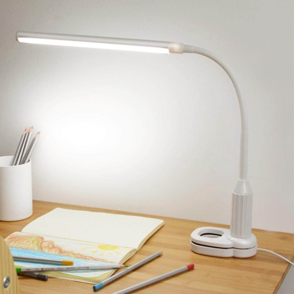 5w 24 Leds Eye Protection Clamp Clip Light Table Lamp Stepless Dimmable Bendable Usb Powered Touch Sensor Control Brightness Adjustable Flexible Lamp Desk Reading Working Studying By Sent Store.