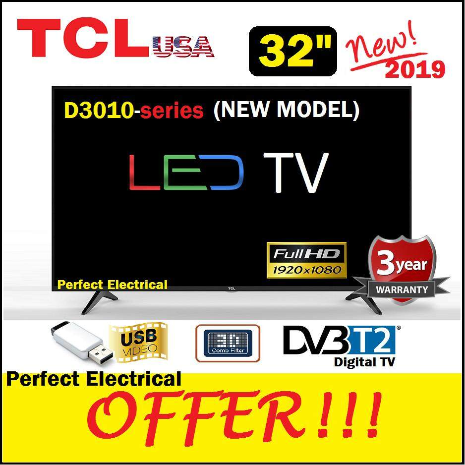 TCL 32 LED TV 32D3010 FHD 1080p DVB T2 [Replace Old Model 32D3000] better  than SHARP / HISENSE / PHILIPS / SAMSUNG / SKYWORTH / TOSHIBA / LG /