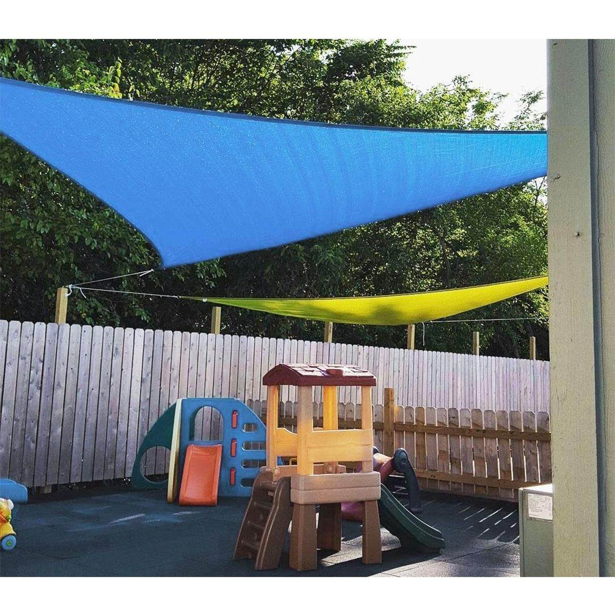 【Free Shipping + Flash Deal】Sky Blue 300D 160GSM Polyester Oxford Fabric Shade Sail Sun Outdoor Right Triangle