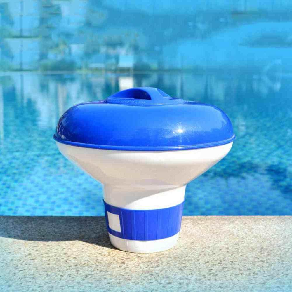 Chux Swimming Pool Spa 5 inch Chlorine Bromine Chemical Tablet Auto-Supplier Floater Dispenser Tablet Afloat Disinfect Pill Case