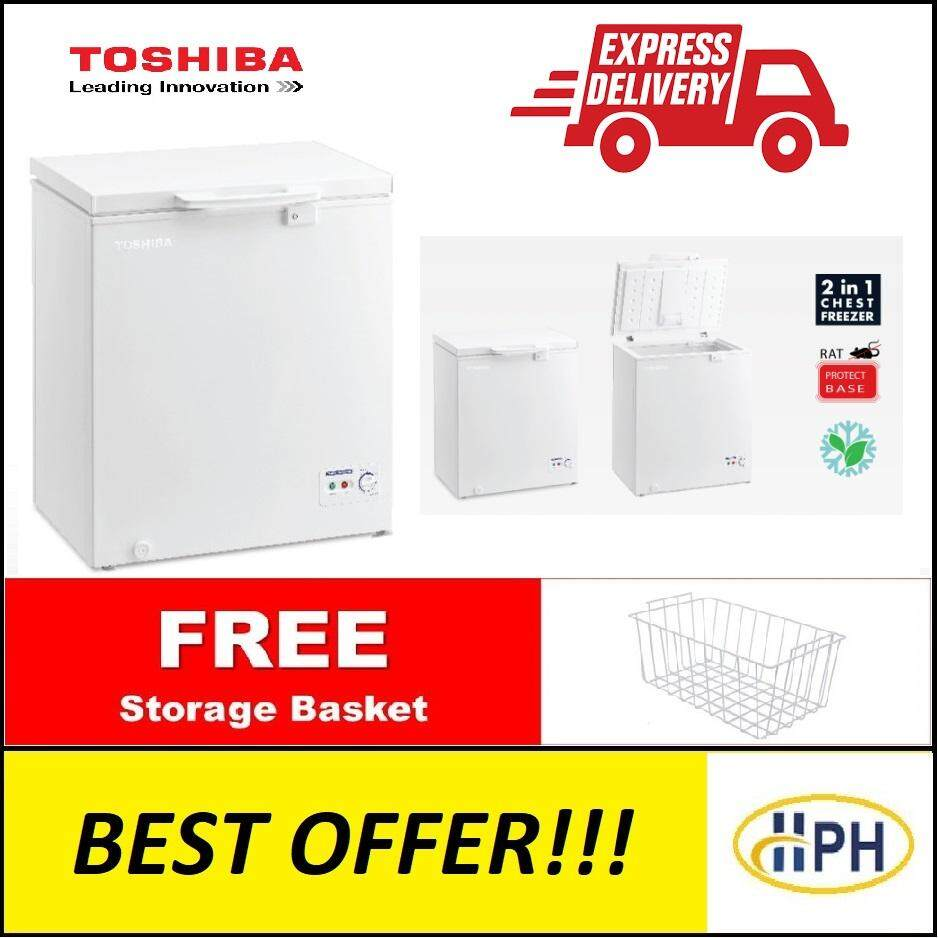 TOSHIBA 142L CHEST FREEZER CR-A142M / CRA142M with 2 IN 1 FUNCTION