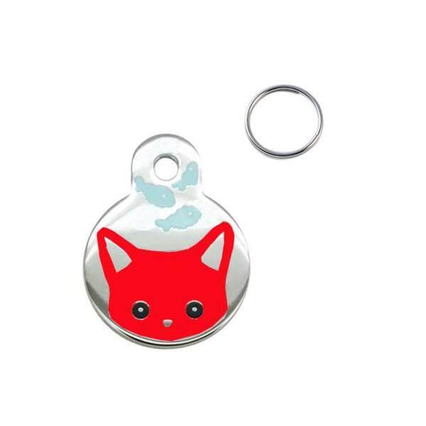 Huanhuang®Vòng Cổ Kim Loại Chống Mất Cho Chó Mèo Thẻ Tên Mặt Dây Chuyền Điện Thoại Chủ Sở Hữu ID Khắc