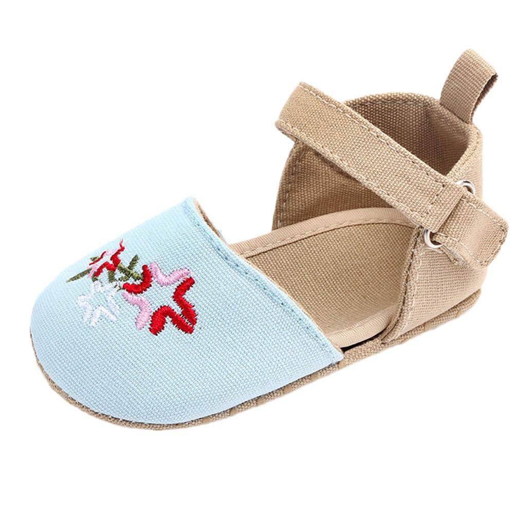 602aa37f4966b Cutebabyroom Cute Baby Girls Newborn Infant Cartoon Floral Casual First  Walker Toddler Shoes