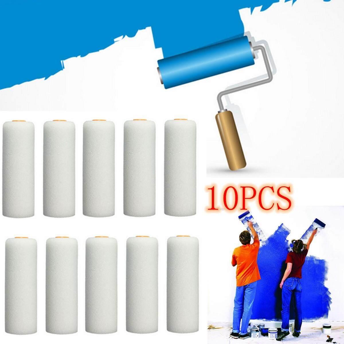 10 PCS 100mm Paint Foam Sponge Rollers Decorators Brush Evenly & Smooth Home NEW