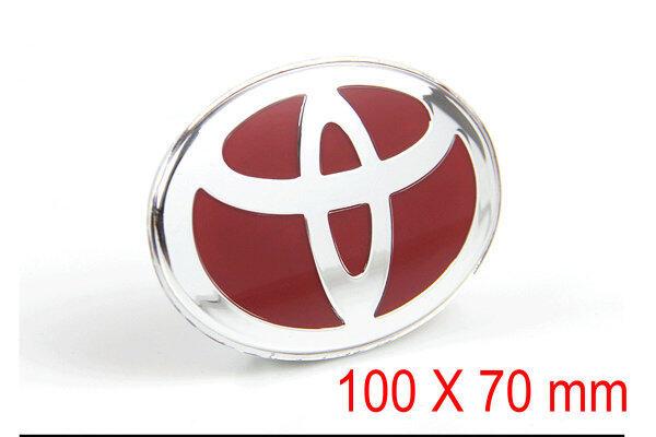 Nhãn Dán Xe 3D Ba Chiều Cá Nhân Nhãn Dán Xe Nhãn Dán Vô Lăng Logo Được Sửa Đổi Huy Hiệu Đề Can Chữ Trang Trí 100X70 Mm Cho Toyota (Màu Đỏ)