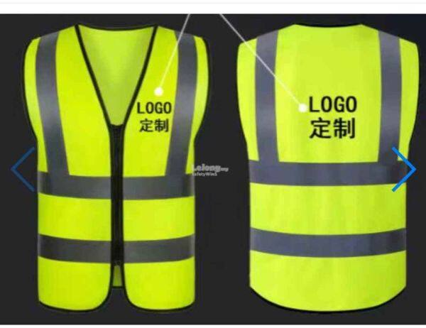 Safety Vest - Zip type (Printing Logo available)