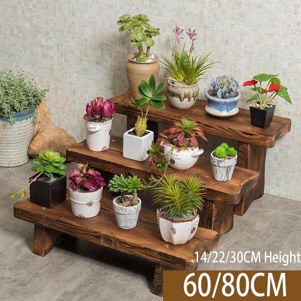 Mu Ma Ren Flower Stand Shelf Storage Shelf Change Shoe Bench Long Stool Solid Wood Flower Pot Holder Stepped Multi-Layer Multifunction Living Room Renting/Decoration Balcony Indoor and Outdoor
