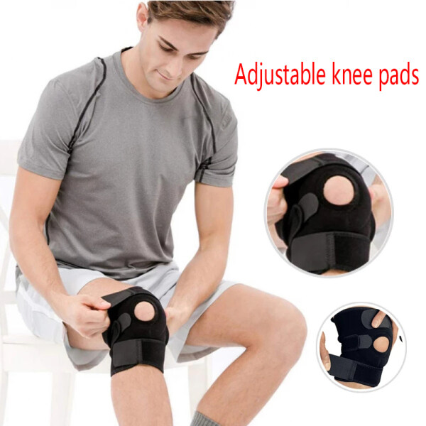 1PC Knee Pad Support Cover Adjustable Open Patella Stabilizer Protector Outdoor Basketball Training Anti-fall Sports Knee Pads