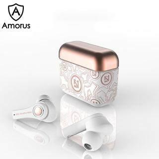 Tai nghe bluetooth TS-100 AMORUS âm thanh vòm TWS 6D có pin sạc thumbnail