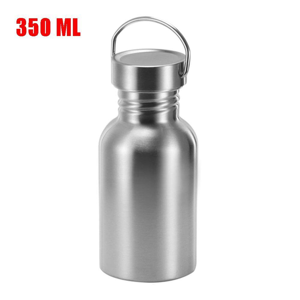 51e21d96cc Stainless Steel Single-Layer Wide Mouth Drinking Water Bottle Keep Cold  Sports Bamboo Cap Large
