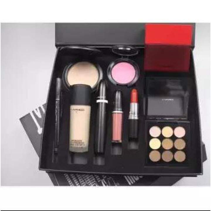 M A C Makeup Set For Women 9 In 1 Gift