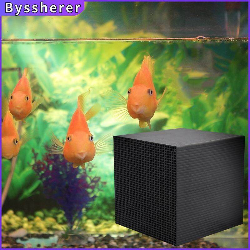 Byssherer Eco-Aquarium Water Purifier Cube Aquarium Filter Water Cleaner Absorbs Activated Carbon
