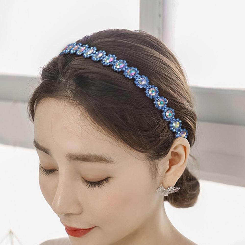 Crystal Rhinestone Teeth Comb Plastic Hairband Headband for Women