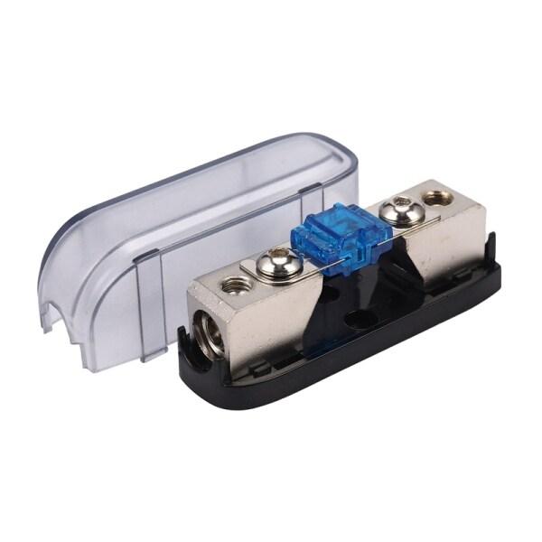 Car Stereo Fuse Holder, Auto Agu Audio Fuse Box Power Distribution Block 4Ga In 4Ga Out