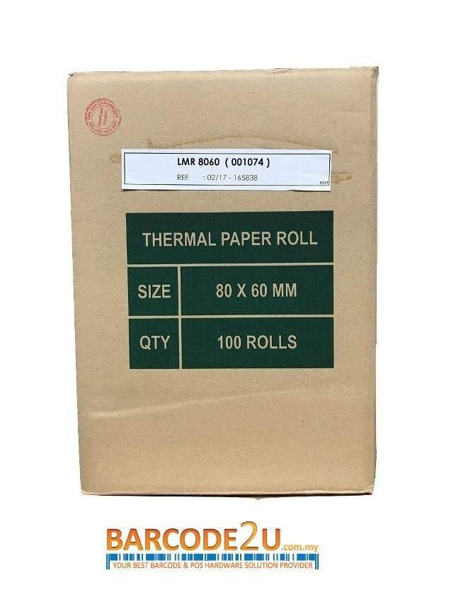 Thermal Receipt Paper 80mm X 60mm - High Quality Paper By Barcode2u.